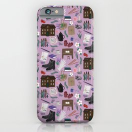 Literary Home iPhone Case