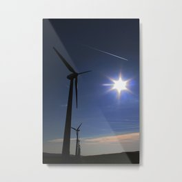 Windfarm and Blue Sky Metal Print