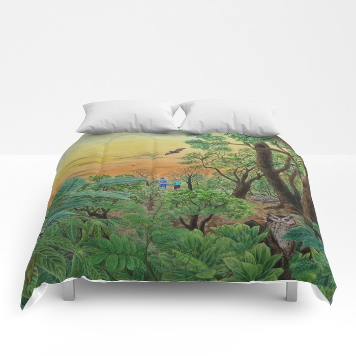 A Day of Forest (9). (the forest at night) Comforters