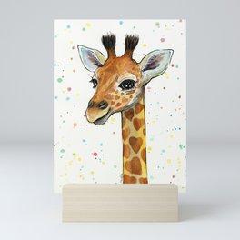 Baby Giraffe Mini Art Print