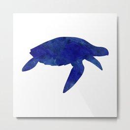 Sea Turtle Watercolor Metal Print