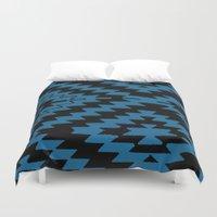 kilim Duvet Covers featuring Blue Black Kilim Rug by suzyoconnor