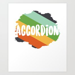 Accordion Concertina Melodeon Piano Accordion Gift Art Print