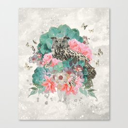 FLORAL OWL Canvas Print