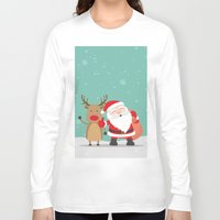 merry christmas Long Sleeve T-shirts featuring Merry Christmas by Neo Store