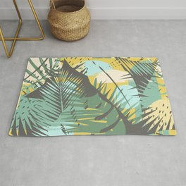 Tropical Sunset in Mint & Yellow Rug