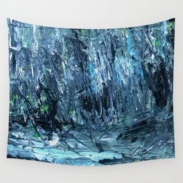 A Clearing Through The Swamp Acrylics On Stretched Canvas  Wall Tapestry