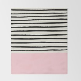 Millennial Pink x Stripes Throw Blanket