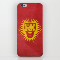 lannister iPhone & iPod Skins featuring House Lannister - Hear Me Roar by Jack Howse