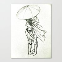 sketch Canvas Prints featuring Sketch by Kate Does Art