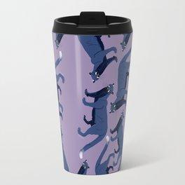 Cougar Pattern (color)#1 Travel Mug