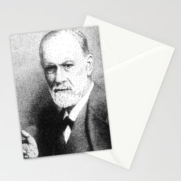 Sigmund Freud (Pen Pointillism) Stationery Cards