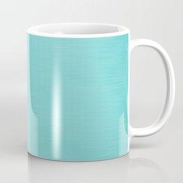 Hand Painted Aqua Blue Coffee Mug