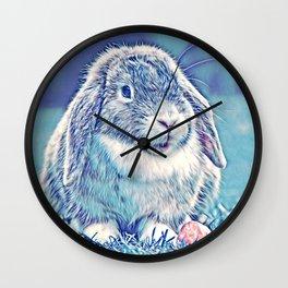 AnimalMix_Rabbit_001_by_JAMColors Wall Clock