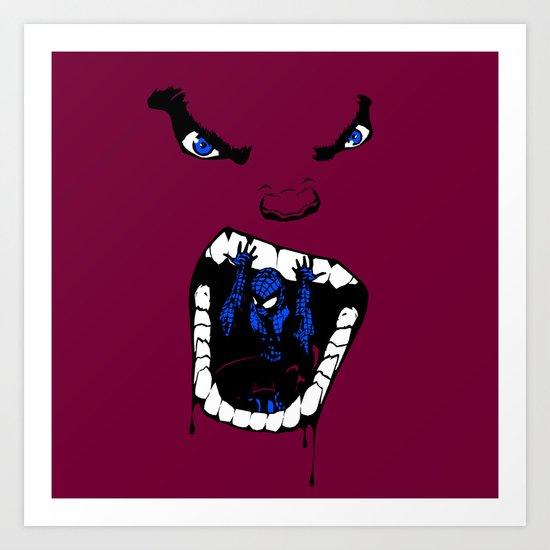 Hungry Hungry Hulk // Magenta Art Print