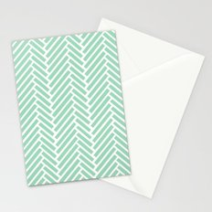 Herringbone Mint Zoom Stationery Cards