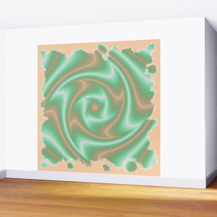 Ariele's Peach Abstract Wall Mural
