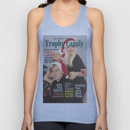 Trophy Family Magazine Parody Cover Unisex Tank Top
