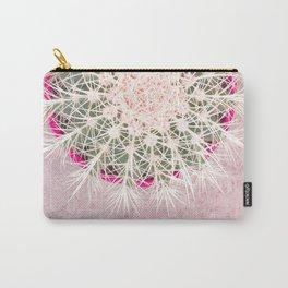 Cactus mandala - blush concrete Carry-All Pouch
