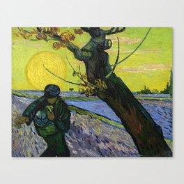 1888-Vincent van Gogh-The sower-32x40 Canvas Print