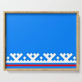 flag of Yamalo-Nenets Okrug Or Yanao Serving Tray