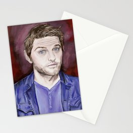 Misha Collins, acrylic painting Stationery Cards
