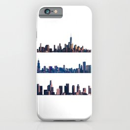 Chicago, New York, And Los Angeles City Skylines iPhone Case