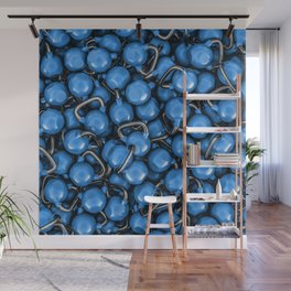 Kettlebells BLUE Wall Mural