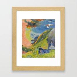 "Paul Gauguin ""Au-dessus de la mer (Above the sea)"" Framed Art Print"