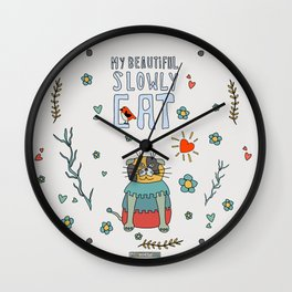 My Beautiful Slowly Cat Wall Clock