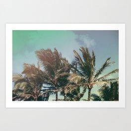 Vintage Palm Hawaii Summer Daze Art Print