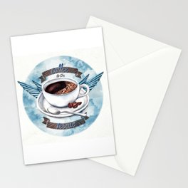Coffee To The Rescue Stationery Cards