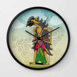 Wayang Arjuna Wall Clock