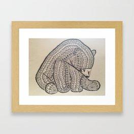 Bearly Intricate Framed Art Print