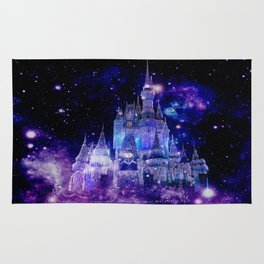 Celestial Palace : Purple Blue Enchanted Castle Rug