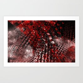 Abstract Collisions Art Print