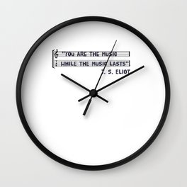 you are the music Wall Clock