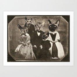 Cat Family Portrait Art Print