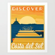 Discover COSTA del SOL   FFXIV Art Print