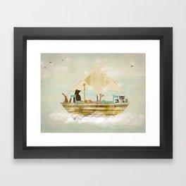 sky sailers Framed Art Print