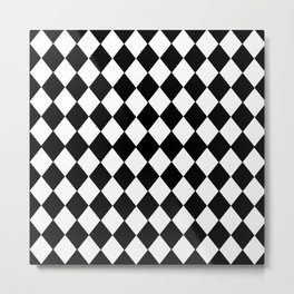 HARLEQUIN BLACK AND WHITE PATTERN #2 Metal Print
