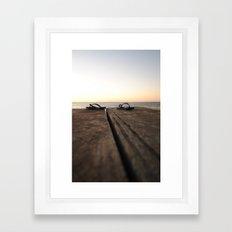 Jetty at sunset Framed Art Print