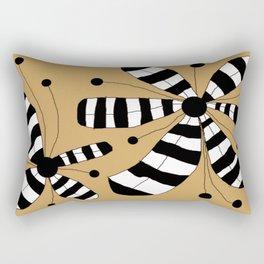 FLOWERY ZEBINA / ORIGINAL DANISH DESIGN bykazandholly Rectangular Pillow