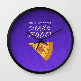Friends 20th - Joey Doesn't Share Food Wall Clock