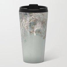 Bear Double Exposure Metal Travel Mug