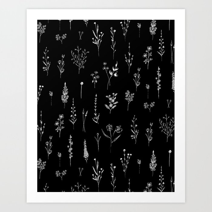 Black wildflowers Kunstdrucke