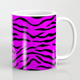 Hot Pink Neon and Black Tiger Stripes Coffee Mug