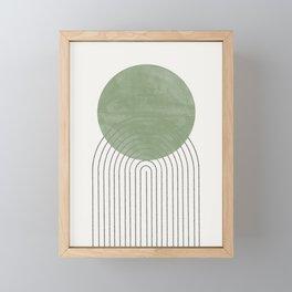 Green Sun Positive Vibe  Framed Mini Art Print