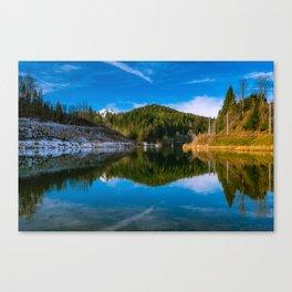Autumn meets winter Canvas Print
