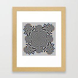 Stereo Tessellation Framed Art Print